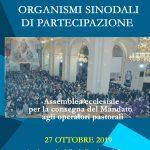 Documento dell'assemblea ecclesiale 2019 - Organismi sinodali di partecipazione